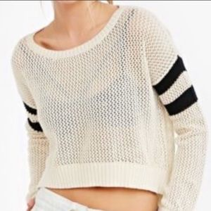 Urban Outfitters BDG Varsity Knit Crop Sweater